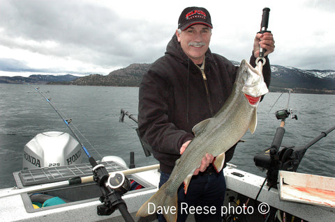 Lee Selders fishing Flathead Lake lake trout mackinaw