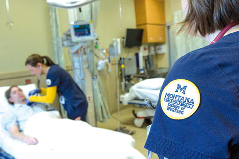 Montana State University's College of Nursing now offers an associate's-to-master's degree program in nursing, which takes five semesters to complete. All courses are taught by College of Nursing faculty, and they are offered using teleconference and video conference so that students may continue to live and work in their home communities. MSU photo by Kelly Gorham.