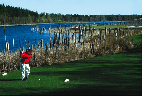 whitefish lake golfer