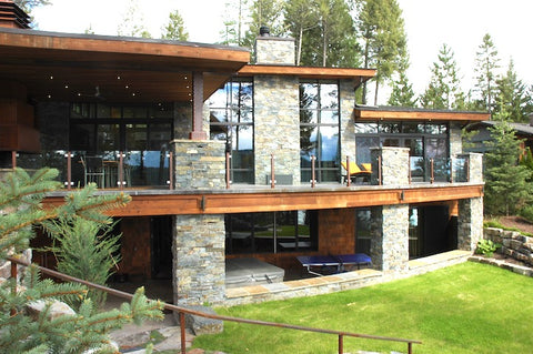 randy watkins construction, contemporary modern home on whitefish lake, montana living, montana designers, montana rockworks, montana contractors