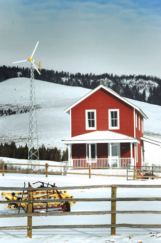 A small windmill helps provide power at  the B Bar Ranch. David Reese photo
