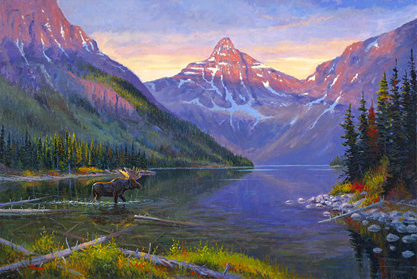 Upper Two Medicine giclee print, by artist Allen Jimmerson - Montana Living