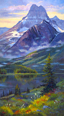 Glacier Heavy Shield giclee print, by artist Allen Jimmerson - Montana Living
