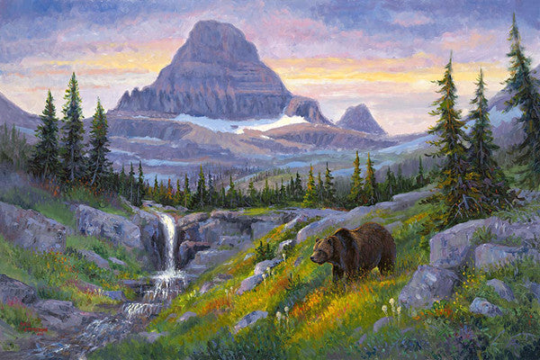 Glacier's High Country, by artist Allen Jimmerson - Montana Living
