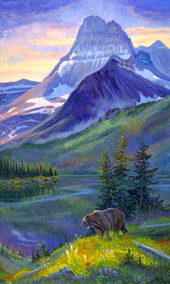 Heavy Shield Grizzly, by artist Allen Jimmerson - Montana Living