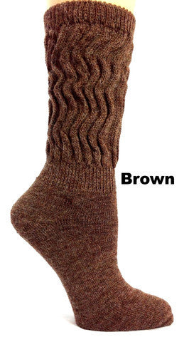 Therapeutic Mid-calf Alpaca Socks - Montana Living