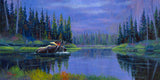 Moose at Fishercap Lake, by artist Allen Jimmerson - Montana Living