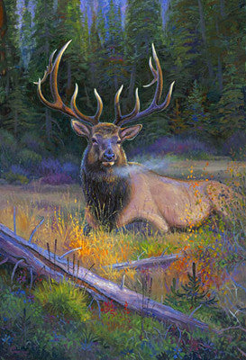 South Fork Bull, by artist Allen Jimmerson - Montana Living