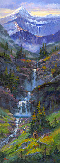 Swiftcurrent giclee print, by artist Allen Jimmerson - Montana Living