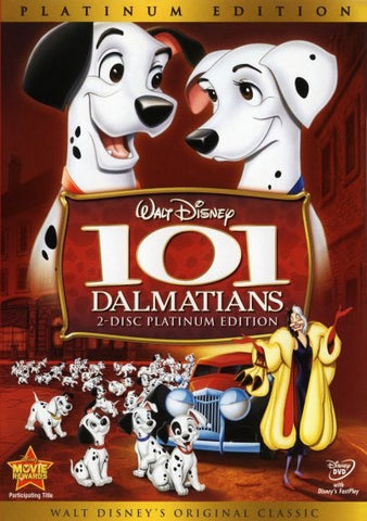 Disney 101 DALMATIANS Original Classic 2 Disc Platinum Edition DVD Set