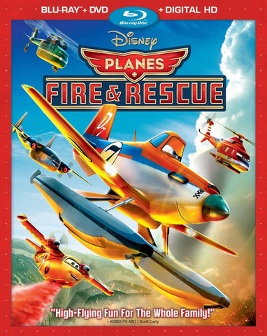 Disney PLANES FIRE & RESCUE Movie 2 Disc DVD Blu-Ray Digital Copy Set