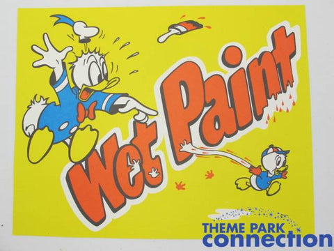 Disney World Rare Donald Duck & Dewey Park Prop Sign