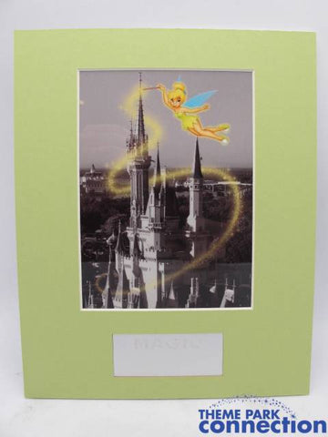 Disney LE Magic Kingdom Cinderella Castle Tinker Bell Pixie Dust Art Laser Cel