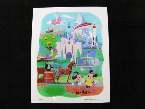 "Disney Parks ""Disneyland Decades 1955-1964"" Alex Maher Signed Art Print"