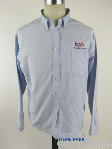 Walt Disney World Epcot Training Team Cast Member LS Button Down Shirt Size 20