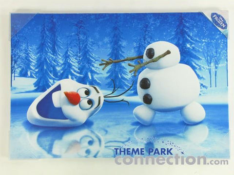 Disney Pictures Olaf Ice Skating Frozen Canvas Art Print