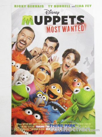 "Disney 2014 MUPPETS MOST WANTED 17.25""x11"" Mini Movie Poster"