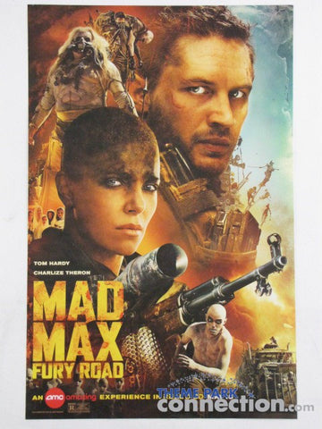 "MAD MAX FURY ROAD AMC Theaters Exclusive 2015 11""x17"" Tom Hardy Charlize Theron One Sheet Movie Poster"