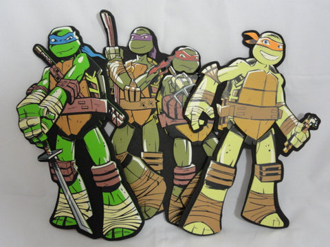 Teenage Mutant Ninja Turtles 3D Foam Wall Decoration Figure Set