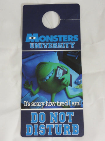 MONSTERS UNIVERSITY Rare Mike & Sully Do Not Disturb Door Hanger