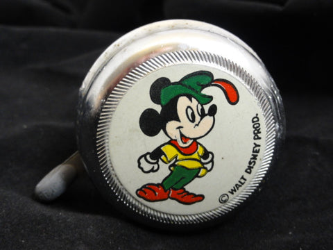 Walt Disney Productions Vintage Brave Little Tailor Mickey Mouse Bicycle Bell Toy