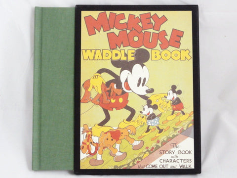 Disney Vintage 1934 Punch-Out Walking Characters MICKEY MOUSE WADDLE BOOK Hardcover 1992 Edition