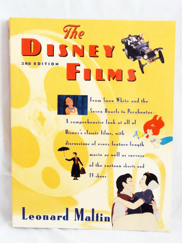 The DISNEY FILMS 1995 Leonard Maltin Movie & TV Reference Guide Book