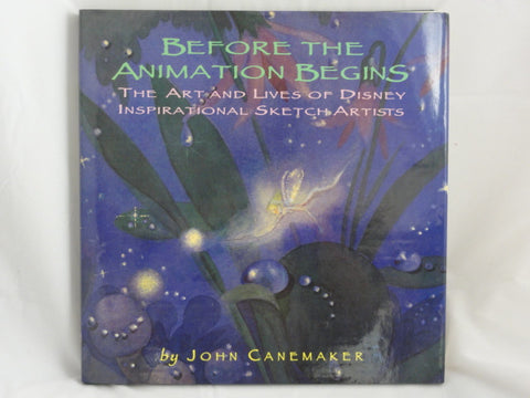 Disney Before Animation Begins Inspirational Sketch Artists First Edition Hardcover Book