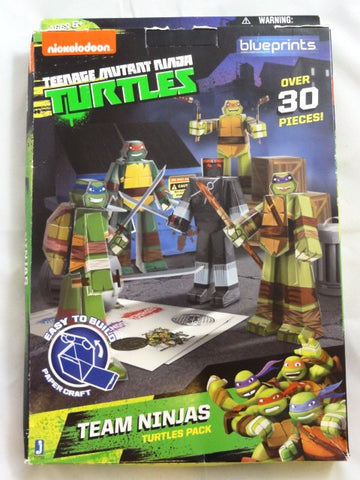 TEENAGE MUTANT NINJA TURTLES Jazwares Toy BLUEPRINTS TEAM NINJAS Turtles Pack 30+ Piece Building Set