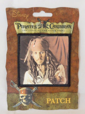 Disney Theme Park Exclusive Pirates Of The Caribbean Black Pearl Jack Sparrow Johnny Depp Iron On Patch