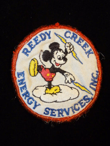 Walt Disney World Vintage 1980s Reedy Creek Energy Services Embroidered MICKEY MOUSE Logo Patch