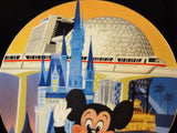 Walt Disney Productions Vintage 1986 Limited Edition WDW 15th Anniversary Collector Plate