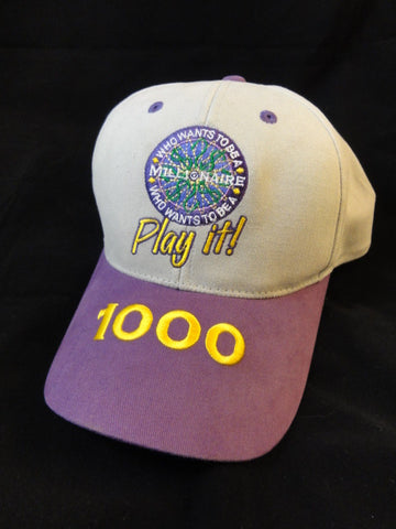 Disney Hollywood Studios Who Wants To Be A Millionaire PLAY IT! 1000 Score Player Exclusive Hat