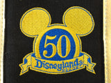 Disneyland Retired Park Exclusive DISNEYLAND 50TH ANNIVERSARY Black & Gold Tote Purse NWT