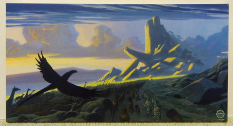 Disney Animation Concept Art The Lion King Limited Edition 96 Of 200 Sunrise At Pride Rock Giclee Artwork