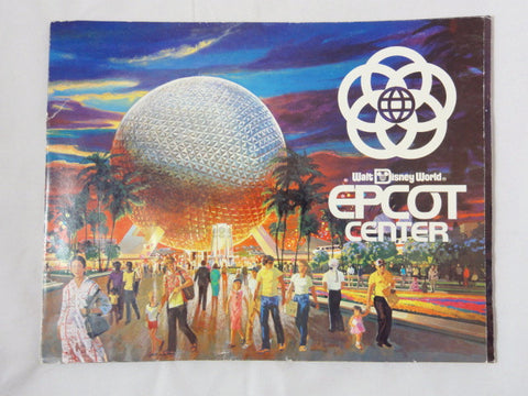 Walt Disney World Vintage 1982 EPCOT CENTER Park Pre-Opening Cast Preview Guide Book