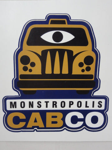 Disney California Adventure MONSTERS INC. Mike & Sulley To The Rescue Monstropolis Cab Co. Original Ride Vehicle Decal Prop