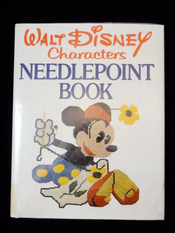 Vintage 1976 Walt Disney Characters Needlepoint 28 Project/Pattern Hardcover Book