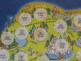Disney Parks Disneyland Medallion Collection Coin Collector's Map NEW SEALED