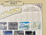 D23 Exclusive DISNEY UNDISCOVERED Retired 23 Month Walt Disney Archives Art Calendar