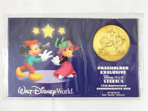 Disney MGM Studios 15th Anniversary Passholder Exclusive Don Williams Commemorative Gold Tone Coin