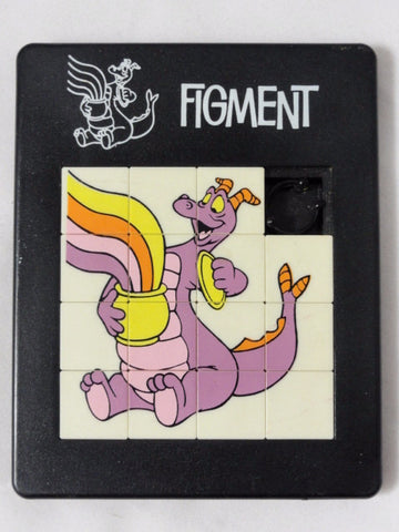 Disney EPCOT Center Vintage 1982 FIGMENT Plastic Slide Puzzle Toy