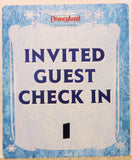 "Disneyland Just Got Merrier Christmas Holiday ""Invited Guests"" Original Disney Theme Park Used Display Sign Prop"