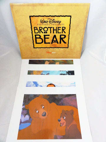 Disney Store Exclusive Retired 2004 BROTHER BEAR 4 Piece Lithograph Art Print Set