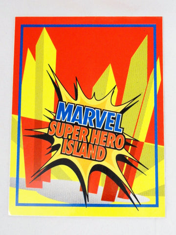 Universal Studios ISLANDS OF ADVENTURE Authentic Original MARVEL SUPER HERO ISLAND Trash Can Vinyl Decal Sign Prop