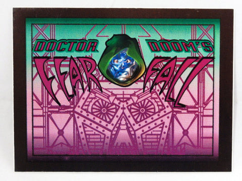Universal Studios ISLANDS OF ADVENTURE Authentic Original DOCTOR DOOM'S FEAR FALL Trash Can Vinyl Decal Sign Prop