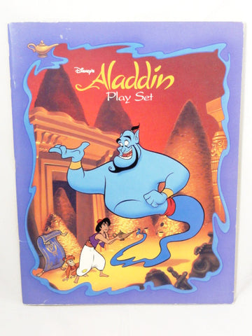 Disney Vintage 1992 ALADDIN Play Set Punch-Out Paper Toy Building Set Book