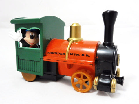 Disney Theme Park Exclusive THUNDER MOUNTAIN Railroad Mickey Mouse Pull Back Ride Vehicle Toy Figure