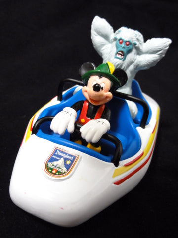 Disney Theme Park Collection MATTERHORN BOBSLEDS Mickey Mouse Abominable Snowman Die Cast Vehicle Toy