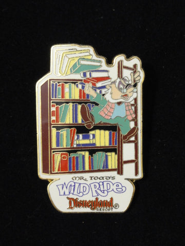 Disneyland Exclusive MR. TOAD'S WILD RIDE Angus MacBadger Library Retired 2007 Pin